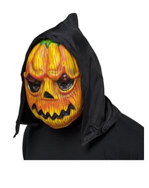 Máscara de abóbora com capuz