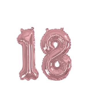 "Balon foliowy ""18"" rose gold 40cm - Glitz & Glamour Pink & Rose Gold"