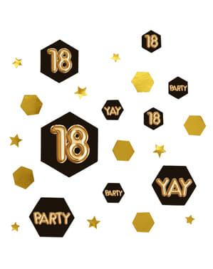 "Pöytäkonfetti ""18"" - Glitz & Glamour Black & Gold"