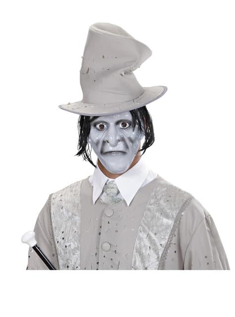 Máscara de caballero fantasma con pelo - para tu disfraz