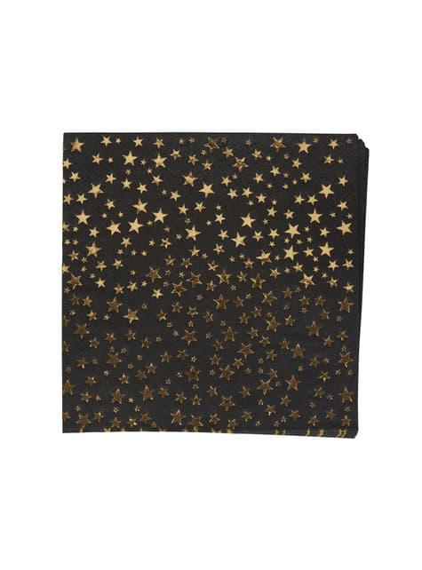 16 servilletas de papel (33x33 cm) - Glitz & Glamour Black & Gold