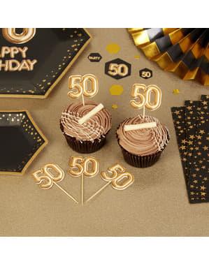 """20 """"50 somistehammastikkuja kultaisena – Glitz & Glamour Black & Gold"""