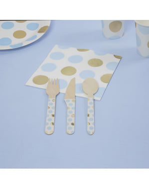 24 wooden cutlery pieces - Pattern Works