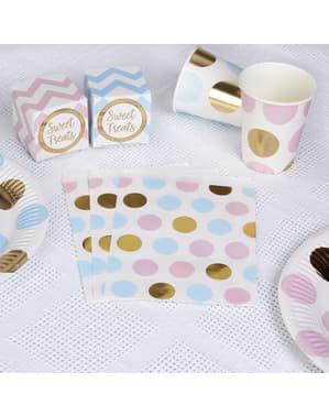 25 Multigekleurde polka dot papieren zakken - patroonwerken