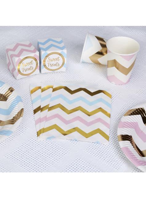25 bolsitas de papel con zigzag multicolor - Pattern Works