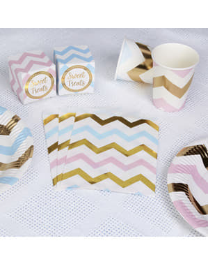 25 saquinhos de papel com zigzag multicolor - Pattern Works