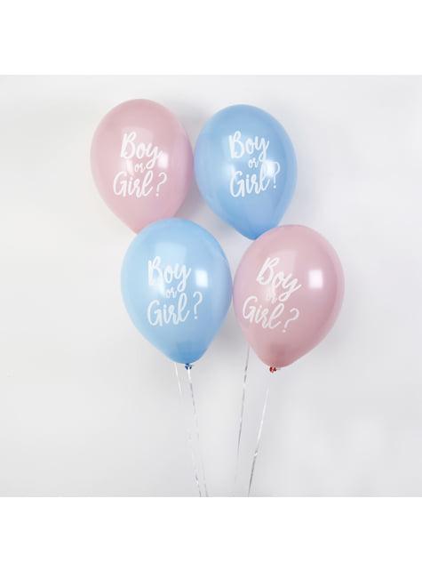 8 globos variados (30 cm) - Pattern Works Blue
