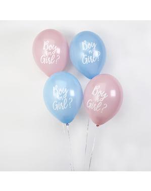 8 Luftballons gemischt (30 cm) - Pattern Works