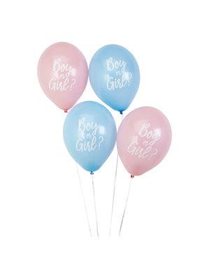 8 assorterte ballonger (30cm) - Mønster fungerer