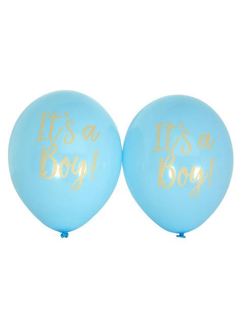 8 globos azules