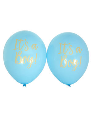 """Mavi 8 """"Bu bir erkek"""" lateks balon Set - Desen İşleri"""
