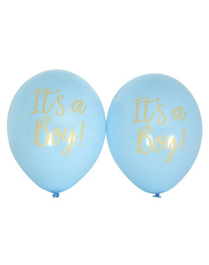 8 ballons en latex bleus