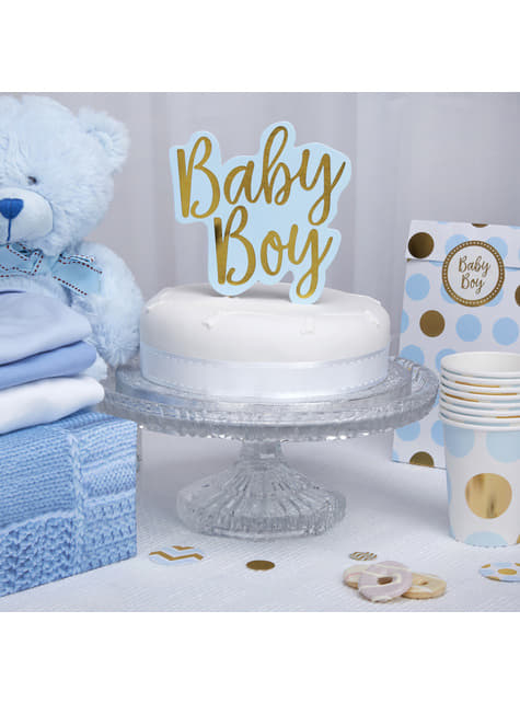 Topper para tarta Baby Boy - Pattern Works Blue