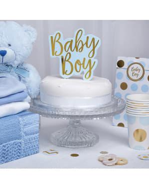 "Украса за торта ""Baby Boy""– Pattern Works Blue"