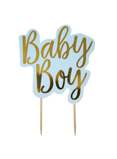 Topper para tarta Baby Boy - Pattern Works Blue - para tus fiestas