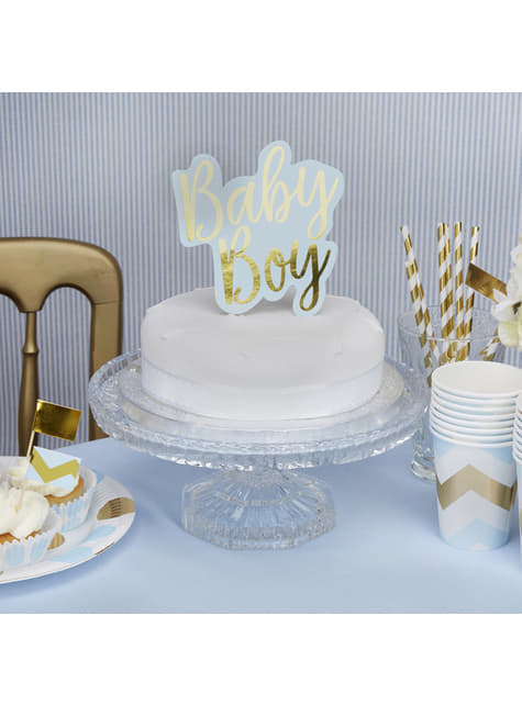 Topper para tarta Baby Boy - Pattern Works Blue - barato