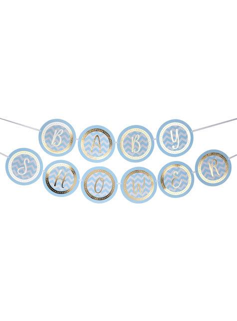 Guirnalda Baby Shower - Pattern Works Blue