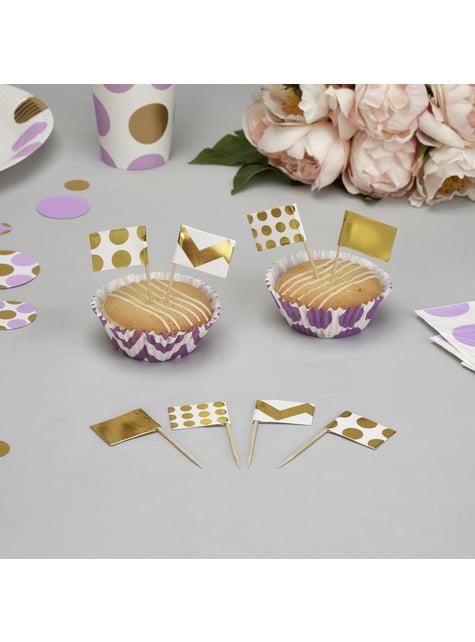 20 pics décoratifs pour gâteau dorés - Pattern Works