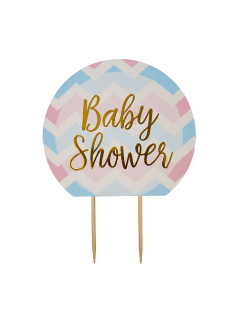 Topper para tarta Baby Shower - Pattern Works Blue
