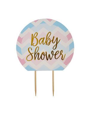 """Baby Shower"" ukras za tortu - Pattern Works Plavi"