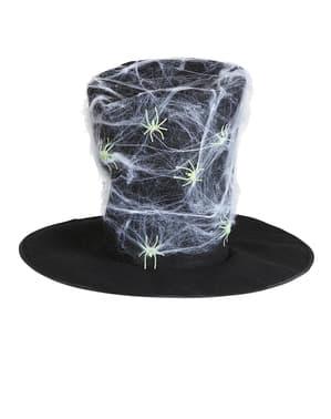 Maxi Höghatt med självlysande spindelnät