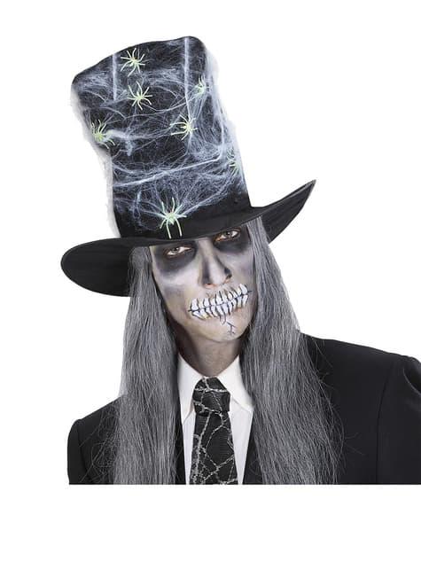 Stor hat med spindelvæv