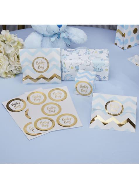25 pegatinas Baby Boy - Pattern Works Blue