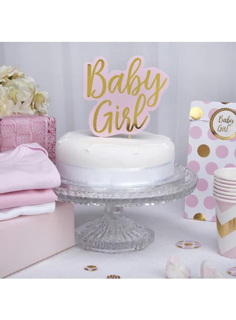 Topper para tarta Baby Girl - Pattern Works Pink