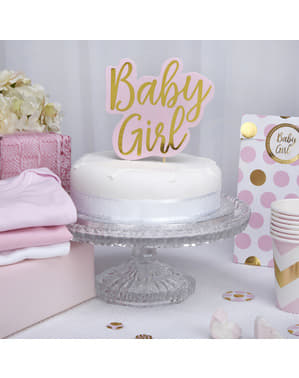 Topper para tarta Baby Girl - Pattern Works Pink