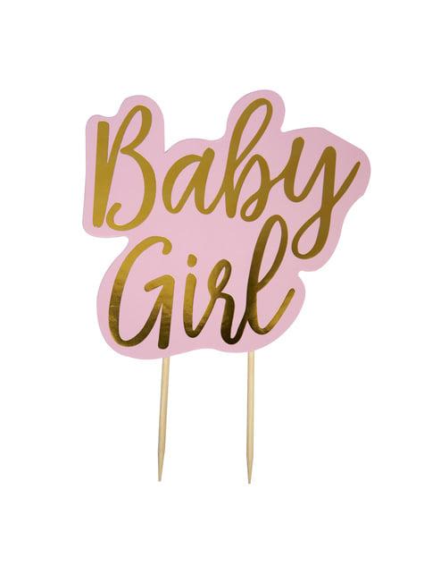 Topper para tarta Baby Girl - Pattern Works Pink - para tus fiestas