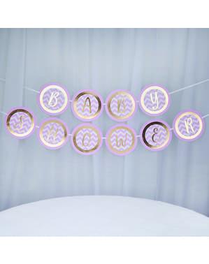 Рожева декоративна гірлянда «Baby Shower» - Pattern Works Pink