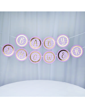 "Розова гирлянда ""Baby Shower""– Pattern Works Pink"