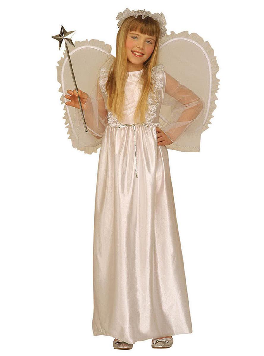 Disfraz de ngel celestial para nia Funidelia