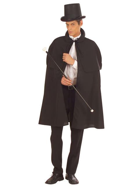 Capa negra de época - para tu disfraz