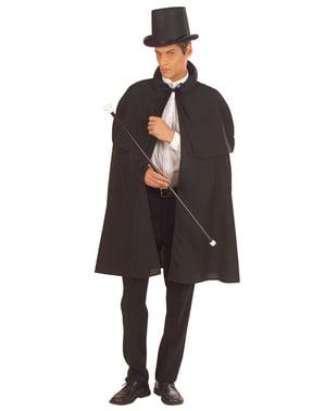 Sort gammeldags kappe
