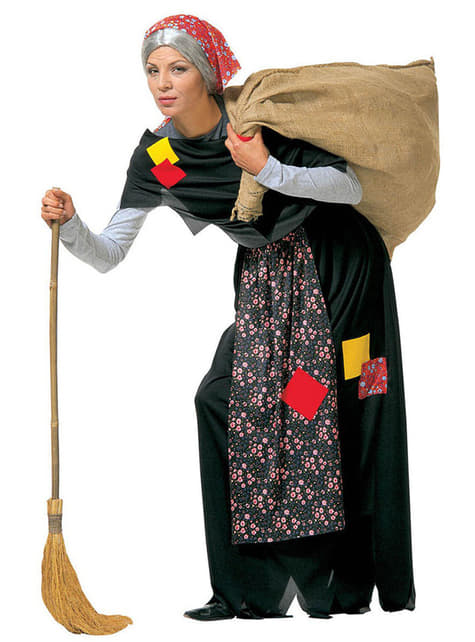 Disfraz de bruja vieja del saco