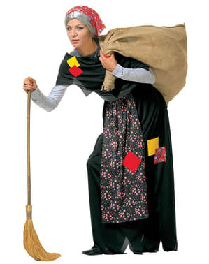 Oude heks met zak Kostuum
