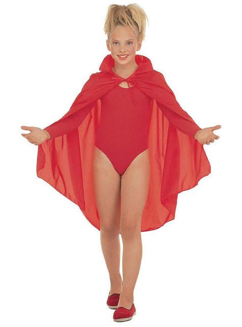 Capa roja infantil - para tu disfraz