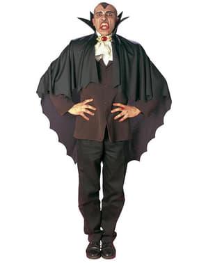 Capa de vampiro negra con cuello