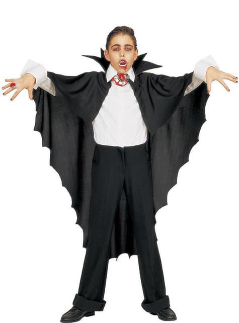 Capa de vampiro negra con cuello - para tu disfraz