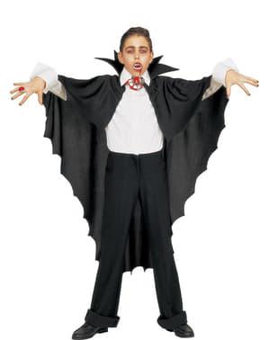 Sort vampyrkappe med krave