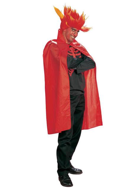 Czerwona peleryna dla dorosłego