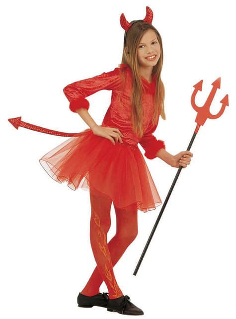 Girls Modern She Devil Costume