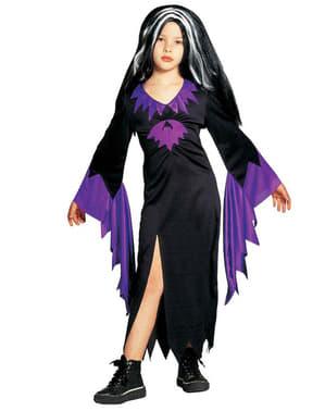 Disfraz de reina de murciélagos para niña