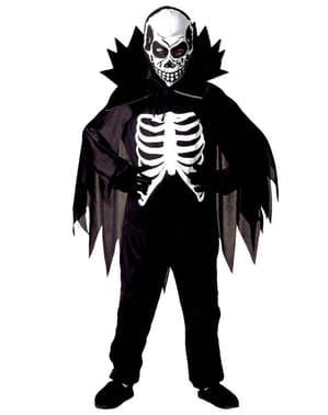 Fato de cavaleiro esqueleto para menino