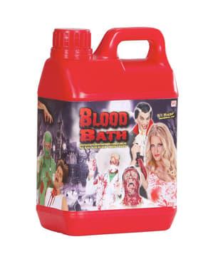 Karafka z sztuczną krwią