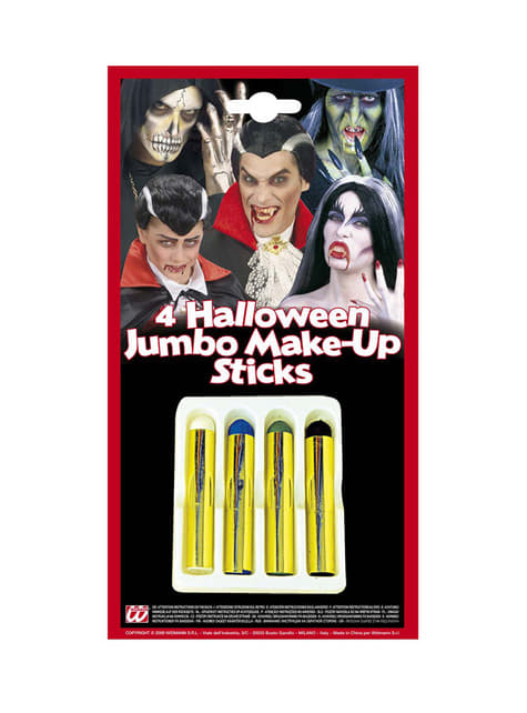 Set de 4 barras de maquillaje halloween