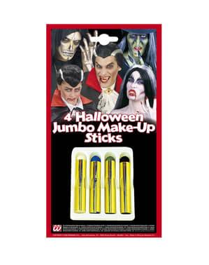 Set van 4 Halloween schmink potloden