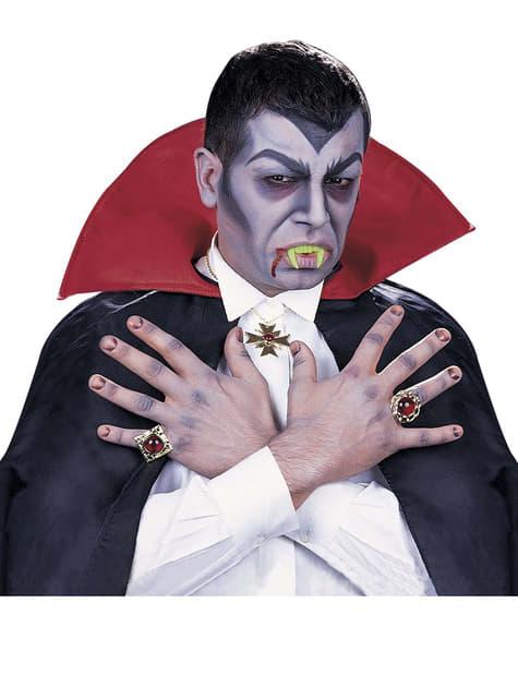 Vampir-Zähne für Erwachsene fluoreszierend