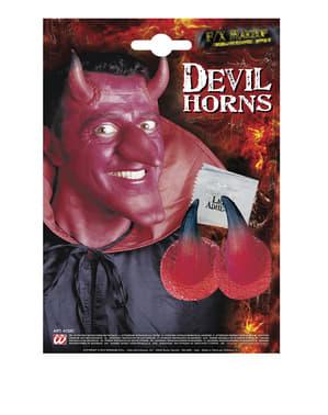 Conjunto de prótese de cornos de diabo